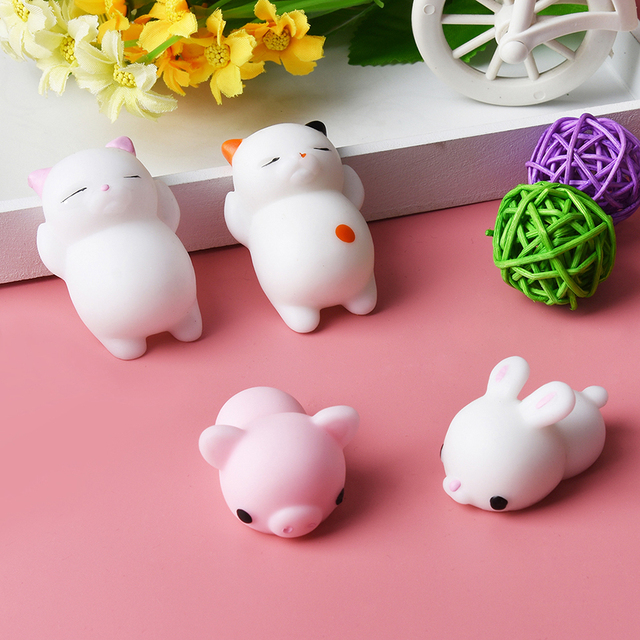 Cat Squishy Slow Rising Cute Soft Press Squeeze Mini Phone Straps Stress Reliever Toy