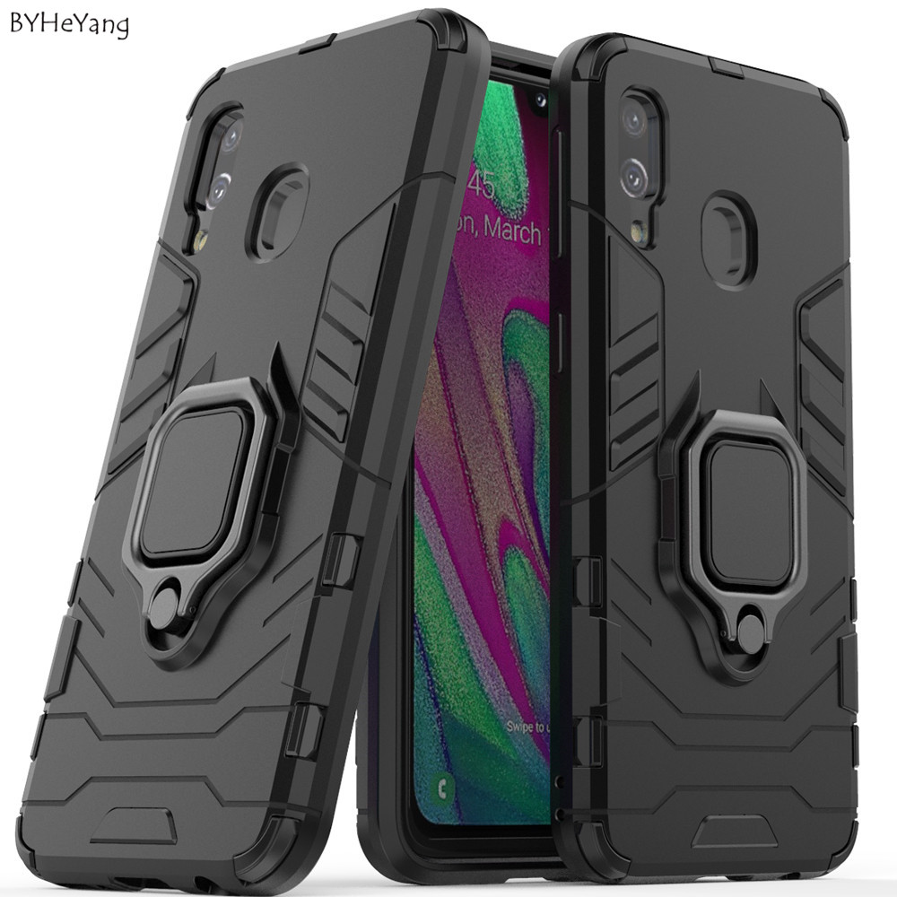 a 40 Shockproof Armor Case For <font><b>Samsung</b></font> Galaxy <font><b>A40</b></font> Stand Holder Car Ring Phone <font><b>Cover</b></font> for <font><b>Samsung</b></font> Galaxy <font><b>A40</b></font> <font><b>2019</b></font> SM-A405F shell image