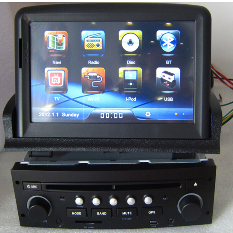 touch screen 2 din car dvd gps for peugeot 307 with radio stereo audio navigation bluetooth rds. Black Bedroom Furniture Sets. Home Design Ideas