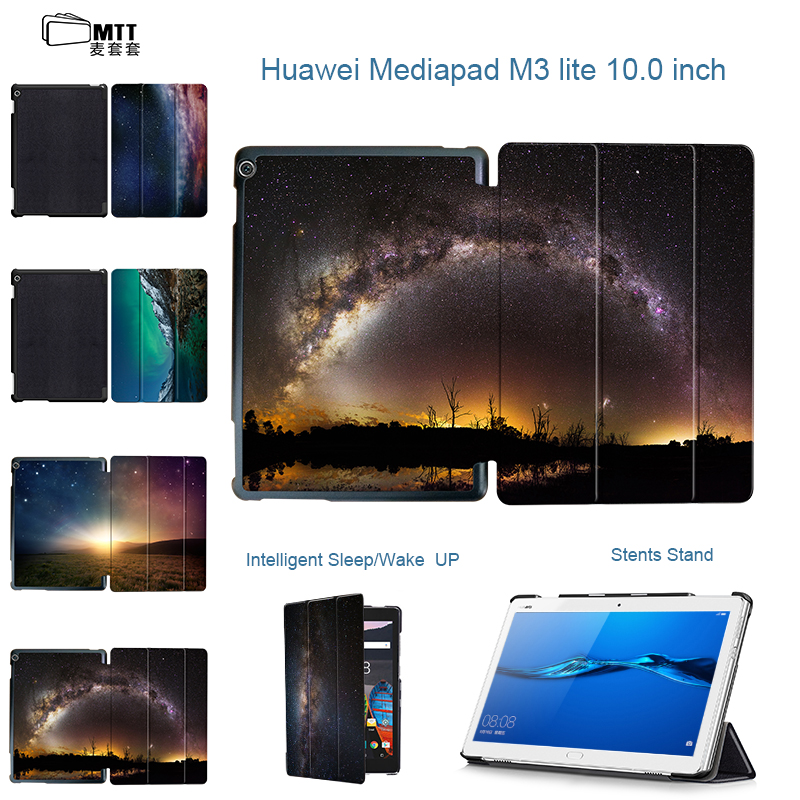 MTT Universe Aurora Case for 10.1'' Huawei MediaPad M3 Lite 10 protective Stand cover skin case for BAH-W09 BAH-AL00 10 tablet smart ultra stand cover case for 2017 huawei mediapad m3 lite 10 tablet for bah w09 bah al00 10 tablet free gift