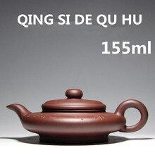 Bonus 3 Tassen Tee Authentische Handgemachte Zhisha Teekannen 155 ml YiXing Tee Set 2017 Chinesisch Ton Teekanne Mit Geschenk-kasten Kostenloser Versand