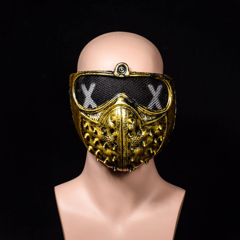 Free Shipping Halloween Punk Demon COS Anime Stage Mask Street Dance Ghost Stepper Liujindingshen Cool Mask