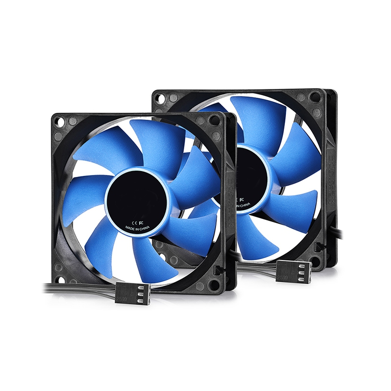80X80X25mm Double Fan CPU Cooler Fan Double Heatpipe Aluminum Heat Sink Cooling Fan Radiator For LGA1156/775/1150/1155/1151 personal computer graphics cards fan cooler replacements fit for pc graphics cards cooling fan 12v 0 1a graphic fan