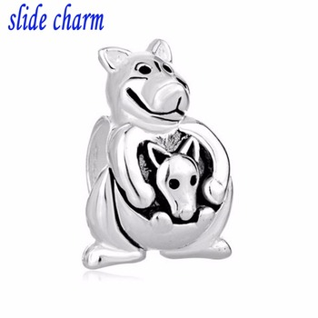 slide charm Free shipping The best Christmas gift in 2014 Kanga beads fit Pandora bracelets charm bracelets and image
