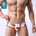 Sexy Mens Underwears Briefs Cotton Men Underwear U-Convex Male Cuecas Low Waist Shorts Hombre Lovely Man Cartoon Bulge Trunks