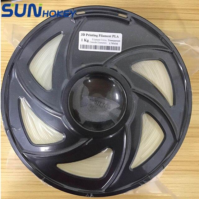 SGS ROHS 3D Printer Filament 1KG Transparent PLA 1.75mm Filament/Plastic Rod Upgraded Quality for Reprap/ MakerBot/Delta
