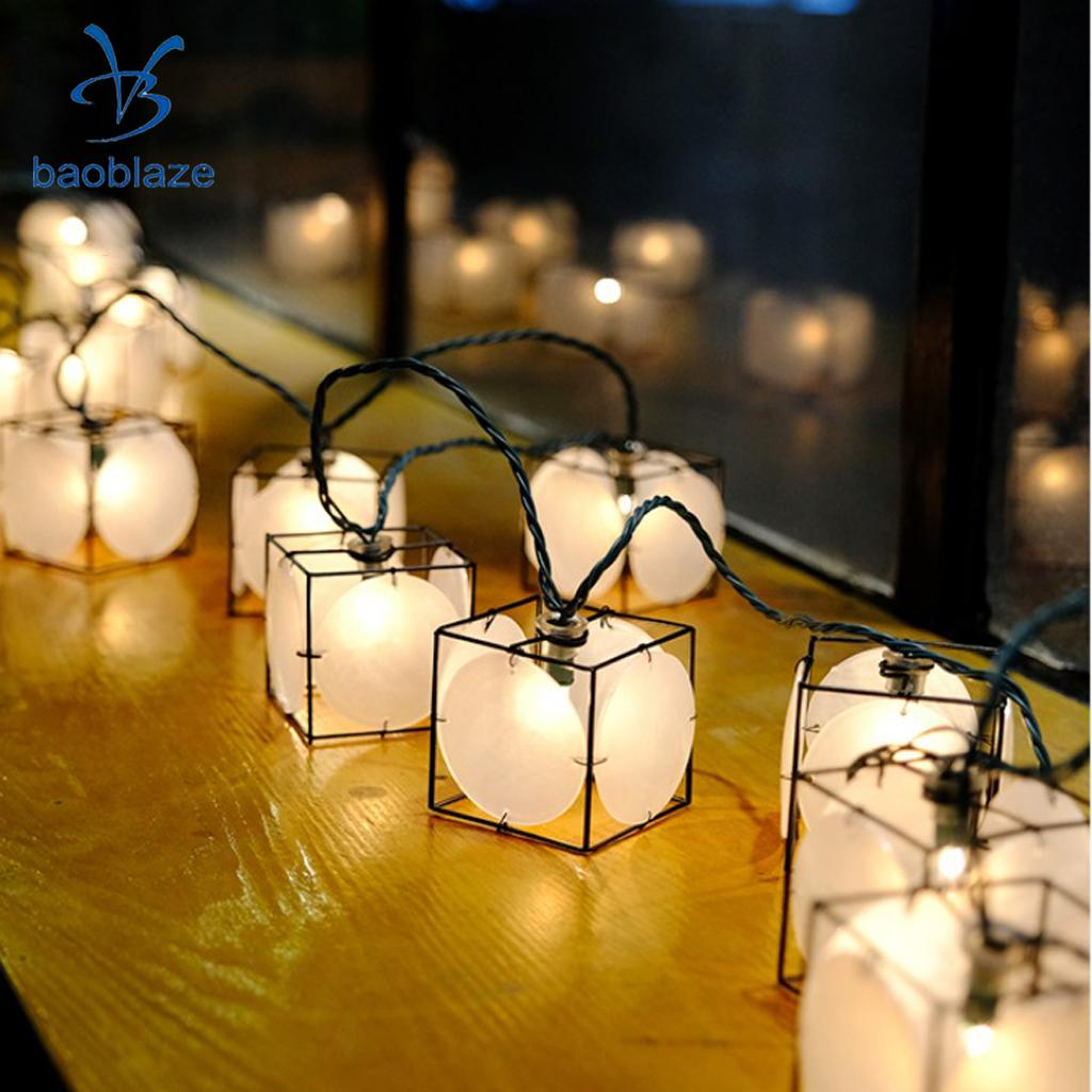 10-Led Chinese Larntern Lot Fairy String Light Living Room Bedroom Wall Pendant Lamp