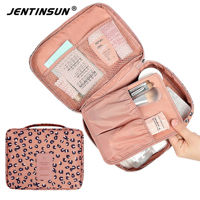 New Women and Men Travel Cosmetic Organizer Bag Waterproof Polyester Makeup Kit Bags Travel Make Up Wash Toiletry Bag Purse msq make up bag pink and portable cosmetic bags for professional makeup artist toiletry case new arrival