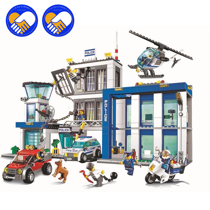 (A Toy A Dream)2017 NEW BELA City series the Police Station model building blocks children's Classic toys a toy a dream lepin 24027 city series 3 in 1 building series american style house villa building blocks 4956 brick toys