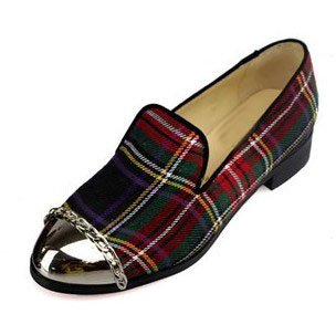 8d4c13fffd09 New fashion black and plaid round toe genuine leather women flat casual shoes  ladies chains slip on sandals size 35 41 CL1014-in Women s Flats from Shoes  on ...