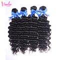 8A Cabelo Encaracolado Malaio Feixes de Cabelo Virgem Malaio Onda Profunda 3 Feixes Nova Chegada Profunda Curly Weave Extensões de Cabelo Humano