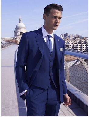 Mens Bright Blue Suit Dress Yy