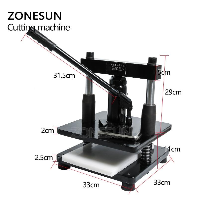 ZONESUN cuir hydraulique manuel machine de découpe papier photo PVC/EVA feuille moule coupe matrice pour bricolage papercraft - 3