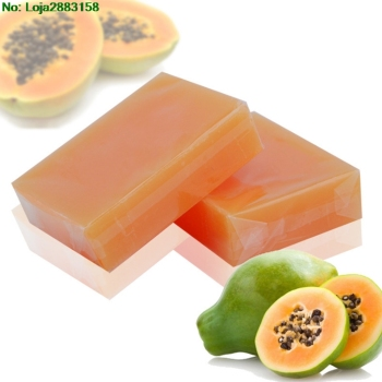 Natural Organic Herbal Green Papaya Whitening Lightening Skin Handmade Soap