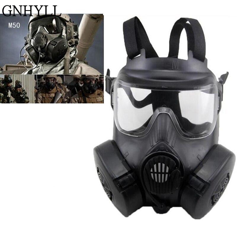 GNHYLL DC M50 masque de sécurité au gaz CS champ squelette armée ventilateur cyclisme masques crâne masques complets