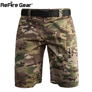 Image 5 - Refire engrenagem camo exército tático dos homens calças curtas combate militar multi bolso carga shorts soldado verão à prova dwaterproof água trabalho shorts