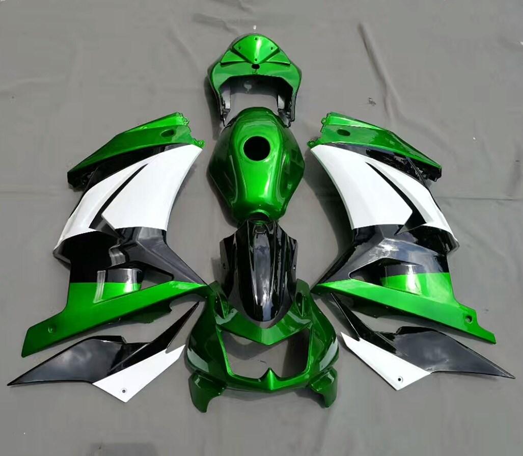 Motorcycle Green Bodywork Fairing For Kawasaki Ninja 250 250R ZX250R EX250 2008 - 2011 2010 2009 Ninja250R Fairings Injection
