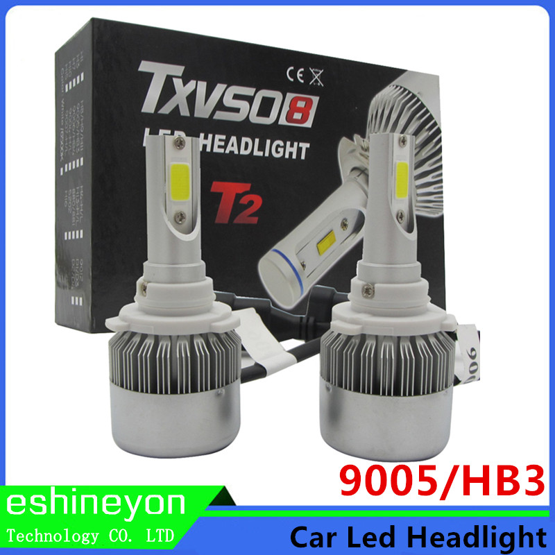 Hot New 2016 110W 9200LM All in One COB Chips Car LED Headlight Conversion Kit 9005