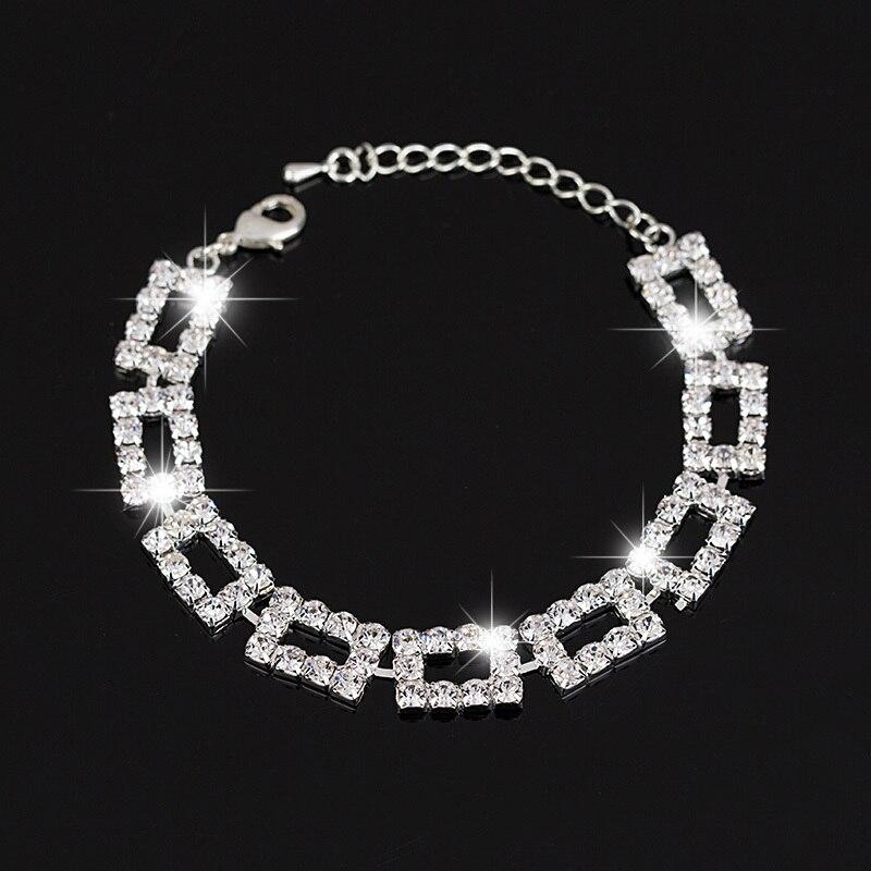 8c0401dc2135 La moda de joyería de plata y oro color rhinestone cristal pulseras  Brazaletes encanto pulsera para las mujeres   b091