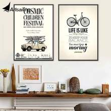 ArtSailing poster nordic canvas art A day without laughter is a day wasted painting Picture for Living Room home Decorative art(China)