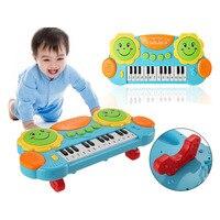 2017 2017 Nuevos Niños Musicales Órgano Electrónico Órgano Teclado Mano Batir Pat Tambor Piano Instrumento de Música de Juguete de Desarrollo Educativo