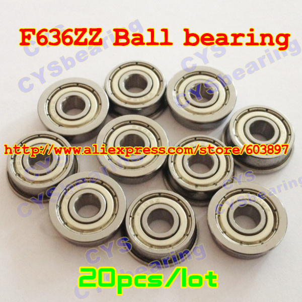 F636ZZ 6x22x7mm Miniature Metal Bearing Flanged Ball Bearing 5 PCS