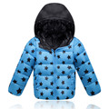 Estrella de la moda Niñas Abrigo de Invierno Los Niños prendas de Vestir Exteriores Gruesa de Los Niños Chaquetas de la capa de Los bebés de Los Niños ropa 5-12 años T0229