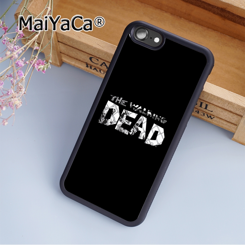 MaiYaCa THE WALKING DEAD QUESTION TWD QUOTES Soft Rubber cell phone Case  Cover For iPhone 7 phone cover shell-in Fitted Cases from Cellphones &