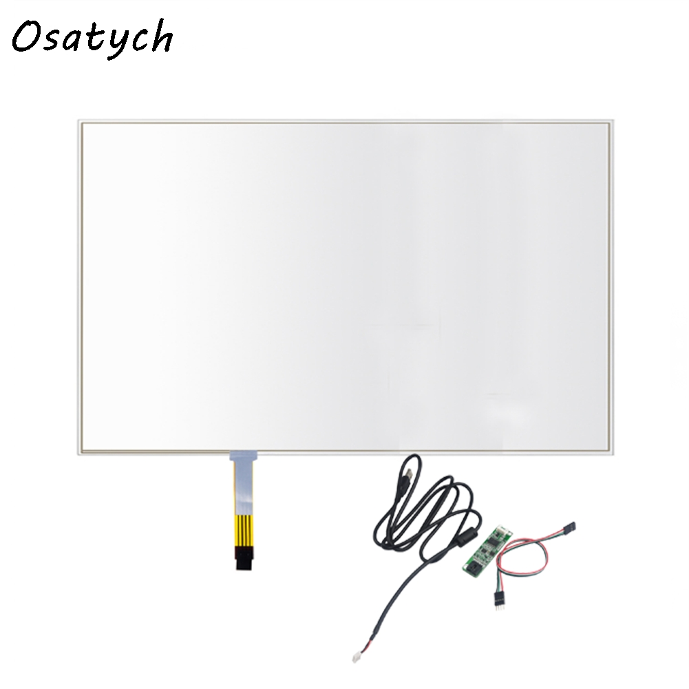 17.3 inch 4 wire for 397*232mm resistive USB touch screen overlay kit, computer monitor 17.3 touch screen with USB controller стоимость