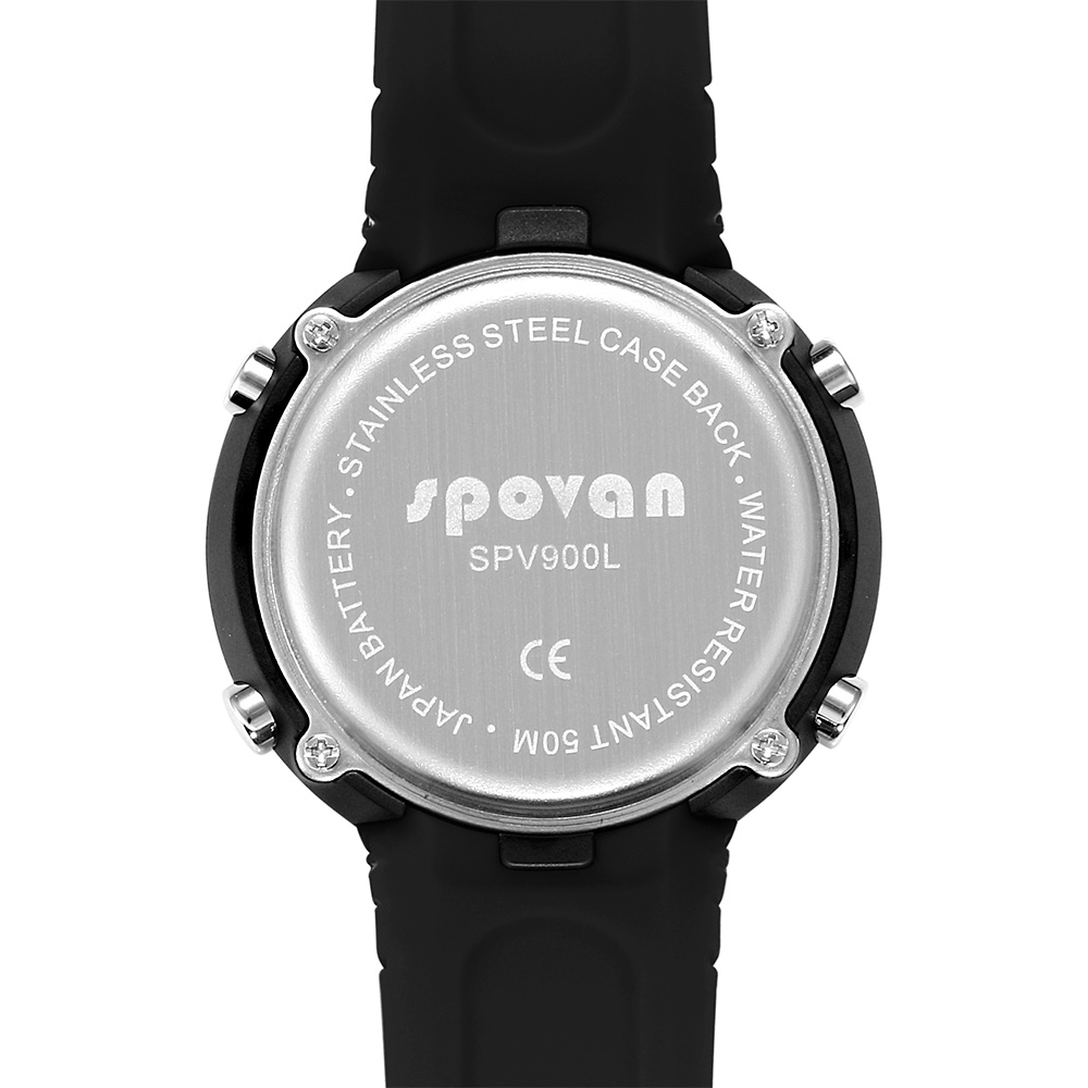 Trend Mark Spovan New Gemini Double Display Watch With Compass/waterproof/led Backlight Choice Materials Watches