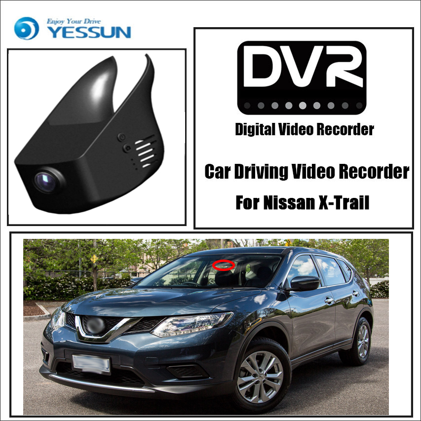 YESSUN for Nissan X-Trail Car Driving Video Recorder DVR Mini Control APP Wifi Camera Registrator Dash Cam Original Style image