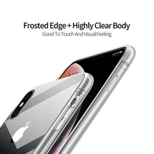 Transparent TPU Phone Case for iPhone Xs X Clear Soft Silicone Cases
