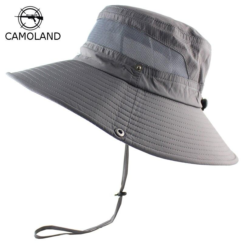 UPF 50 + Balde Chapéu de Sol de Verão Das Mulheres Dos Homens de Pesca  Boonie 39d3f2c4653