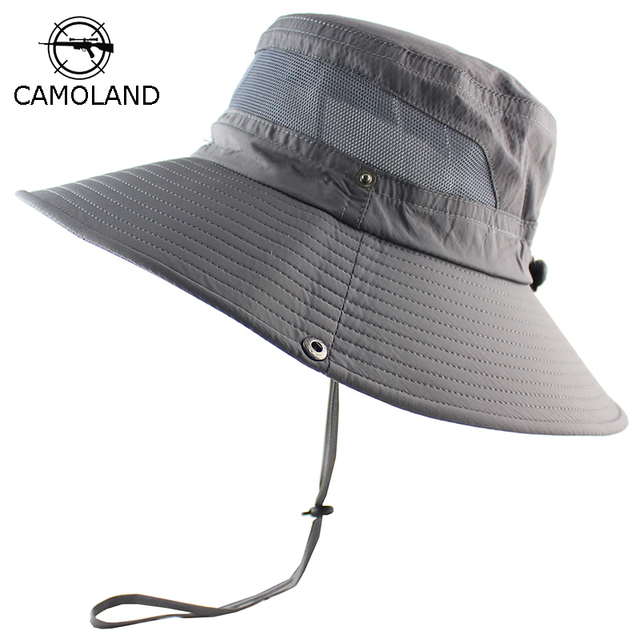 afe7dbd3253d6 UPF 50+ Sun Hat Bucket Summer Men Women Fishing Boonie Hat Sun UV Protection  Long Large Wide Brim Bob Hiking Outdoor Beach Cap