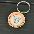 Personalized Keychain Anniversary Gift for Husband, Anniversary Gift for Wife Custom Name and Date