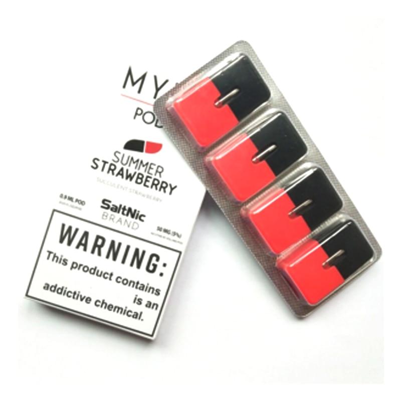 4Pcs/Lot Vape Pen Pods 0.9ml Closed System Pod Vape Pen Cartridge for MYLE Device Electronic Cigarette BCD Pods