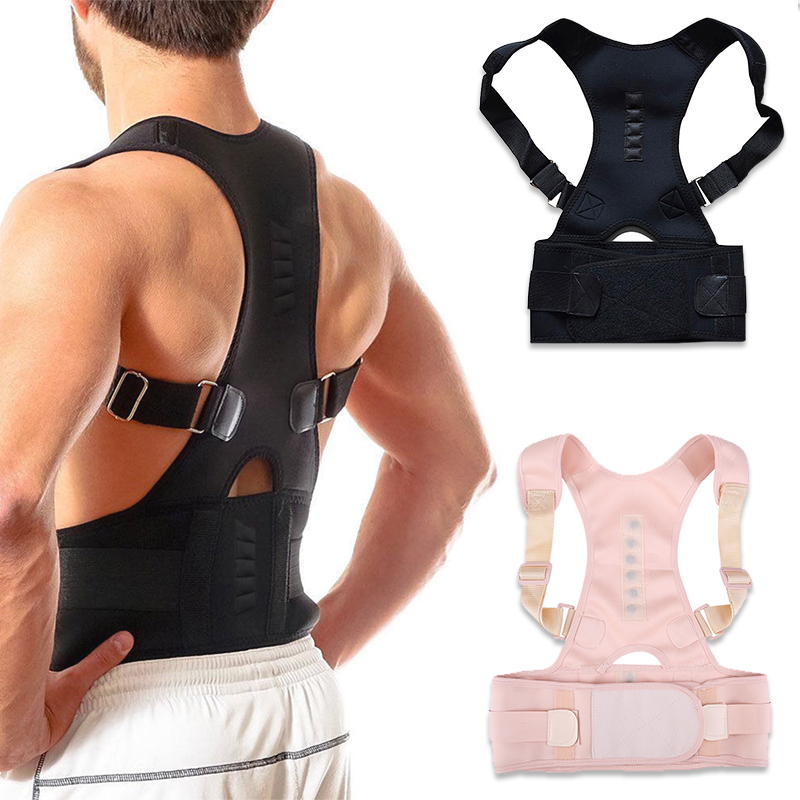Adjustable Magnetic Posture Corrector Orthopedic Back Support Belt Correct Posture Brace Shoulder Back Support Belt Hunchback