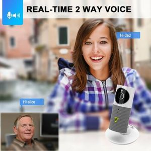 Image 3 - HD 720P חכם כלב Cleverdog בית אבטחת WiFi טלוויזיה במעגל סגור IP המצלמה בייבי מוניטור גריי
