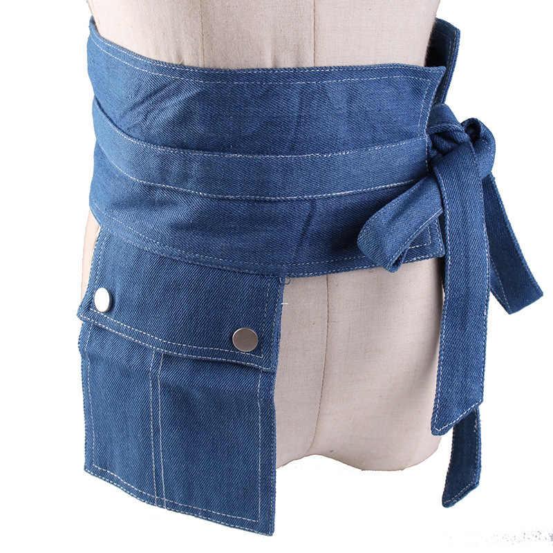 HATCYGGO деним широкий Корсет Джинсы женские ремни с карманом для отдыха Cummerbund для вечерних платьев женские ремни одежда аксессуары