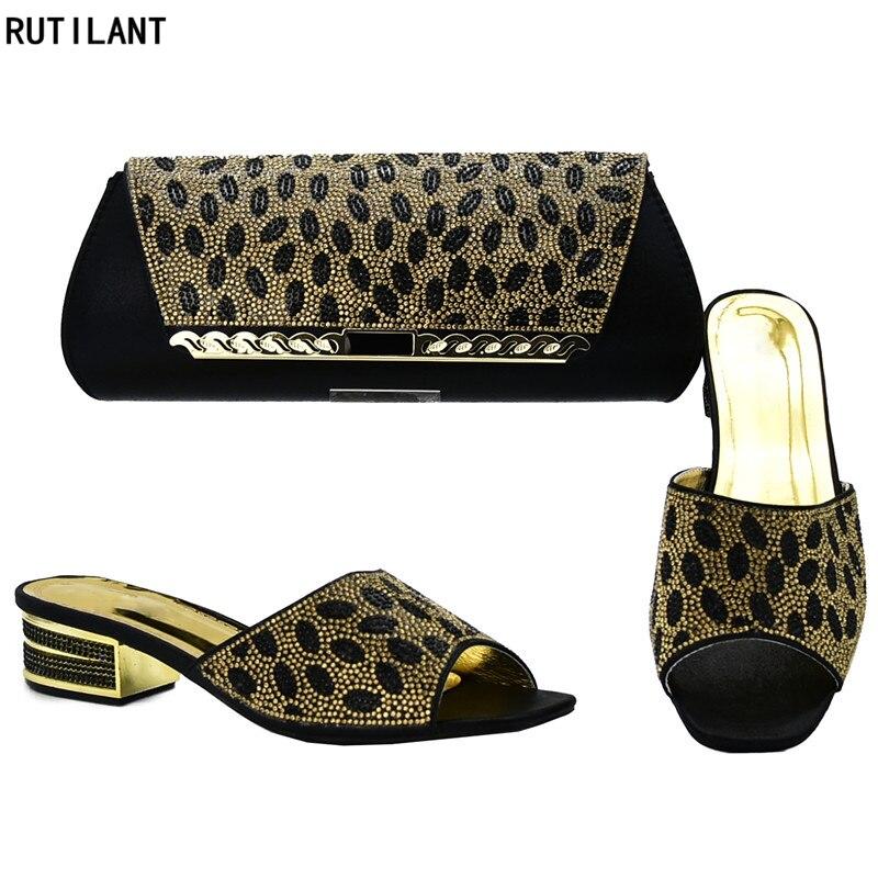 f1d4d4fa sky púrpura Zapatos Partido Nigeria Diseñador Decorado Negro Rhinestone Con  Para De Bolsa Boda Bolso Zapato Y Lujo red Mujer Conjunto El ...