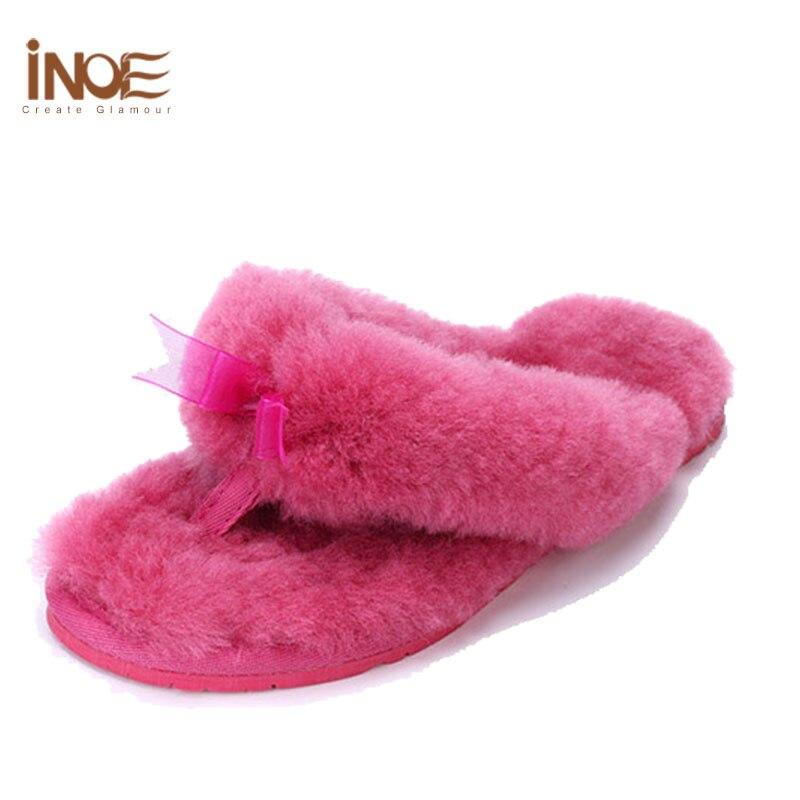 INOE Sheepskin Slippers Womens Leather House Slippers For Women Sheepskin House  Shoes Bedroom Shoes Ladies Fur Winter Slipper in Slippers from Shoes on. INOE Sheepskin Slippers Womens Leather House Slippers For Women