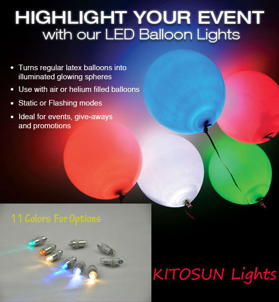 LED Light Bulb Balloon For Lamp Paper Lantern Christmas Wedding Party Decor Lot
