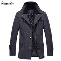 Free Shipping New 2015 Autumn Winter Men S Fashion Brand Men Long Section Brand Men Plus