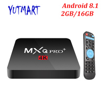 MXQ PRO Android 8.1 TV BOX 2GB 16GB 1GB 8GB Amlogic S905W Quad Core Suppot H.265 UHD 4K 2.4GHz WiFi Set-top box Better X96mini