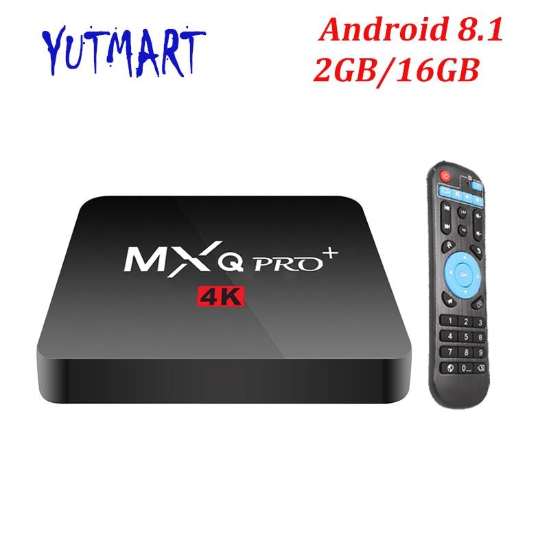 MXQ PRO Android CAIXA TV 8.1 GB 16 2GB 1GB S905W 8GB Amlogic Quad Core Suppot H.265 UHD 4K 2.4GHz Wi-fi Set-top box Melhor X96mini