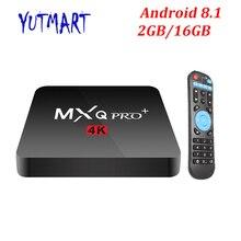 Mxq Pro Android 8,1 ТВ BOX 2 Гб 16 GB 1 GB 8 GB Smart S905W 4 ядра Suppot H.265 UHD 4 K 2,4 ГГц Wi-Fi телеприставки лучше X96mini