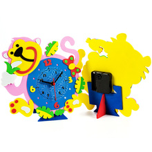 Обучающий часы игрушки раннего развития Детские модели обучающие игрушки для новорожденных высокого качества подарки DIY сборка