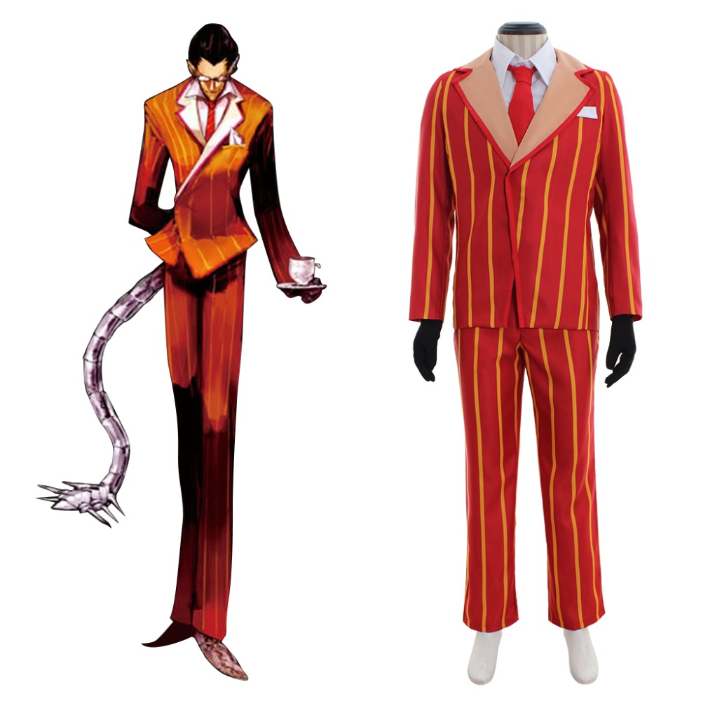 Cosplaydiy Anime Overlord Demiurge Cosplay Costume Adult Halloween Top Jacket Pants Suit L320