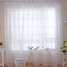 Modern Pure Solid Tulle Curtains For Shading Kitchen Hotel Balcony Living  Room White Green Red Yellow Orange Hot Sale WP184 *20