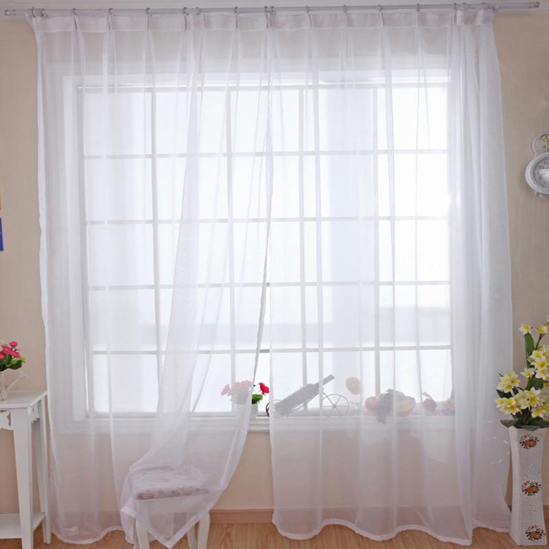 tüll vorhänge-kaufen billigtüll vorhänge ... - Vorhange Wohnzimmer Weis